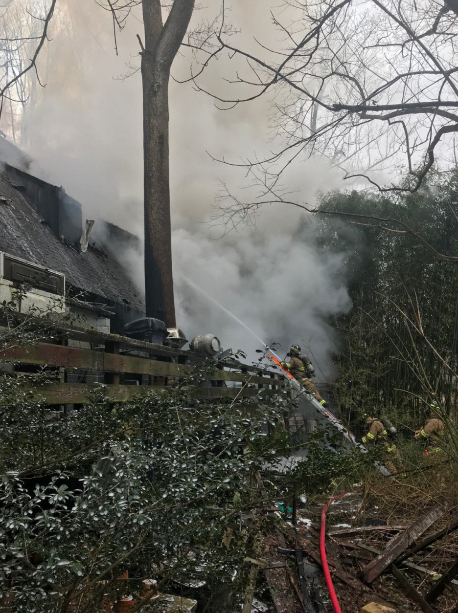 The cause of the March 9 blaze remains under investigation. (Courtesy Fairfax County Fire and Rescue)