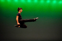 """""""Finn would come after getting a blood transfusion and he was pumped to get the transfusion because he knew he'd have the energy to dance for 5 minutes,"""" O'Reilly's coach said. (Courtesy Boyle School of Irish Dance)"""