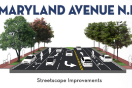A projection of what Maryland Avenue Northeast will look like after reconstruction is complete (Courtesy DDOT)