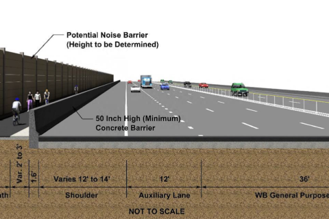 I-66 toll lane bike trail layout comes into focus
