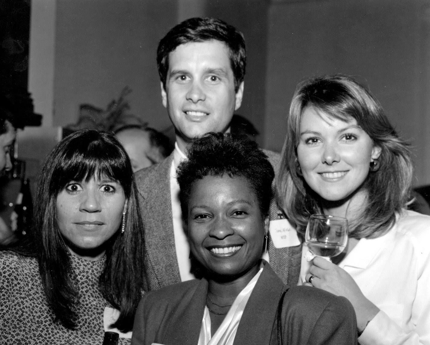 Staffers from the 1980s. Clockwise from top: Jamie McIntyre, Wendy Rieger, Janice Sosebee, ______. (Courtesy Jamie McIntyre)