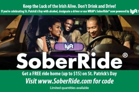 Lyft's SoberRide offers free rides home after St. Patrick's Day fun