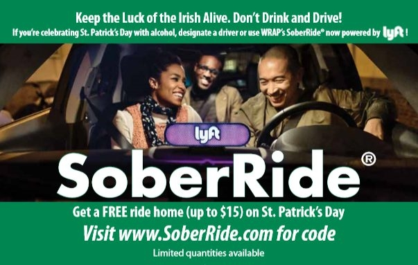Lyft's SoberRide offers free rides home after St  Patrick's