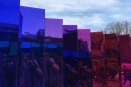 """""""Mirror Mirror"""" is a temporary art installation in Alexandria, Virginia. (WTOP/Liz Anderson)"""