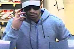 Pictured is the suspect who robbed the SunTrust Bank on Jan. 27. (Courtesy Montgomery County police)