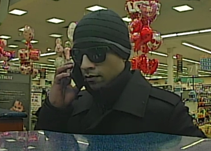 This is the suspect police say robbed the bank on Feb. 3 (Courtesy Montgomery County police)