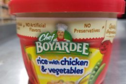 The recalled products are 7.5 ounce canned bowls labeled rice with chicken and vegetables that were packaged Jan. 16, 2019. (Courtesy USDA)