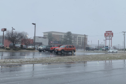 The scene in Manassas, Virginia, on Friday, March 8, 2019. (Courtesy Ali Baires)