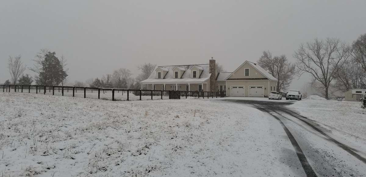 A WTOP listener's house in Aldie, Virginia, on Friday, March 8, 2019. (Courtesy Rae Carson)