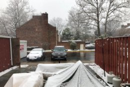 Snow falls in Springfield, Virginia, on Friday, March 8, 209. (Courtesy WTOP listener)