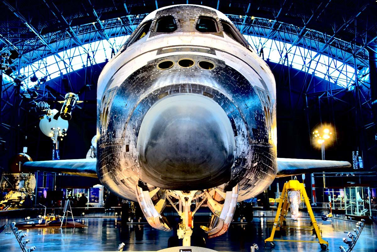 The space shuttle Discovery. (WTOP/Greg Redfern)