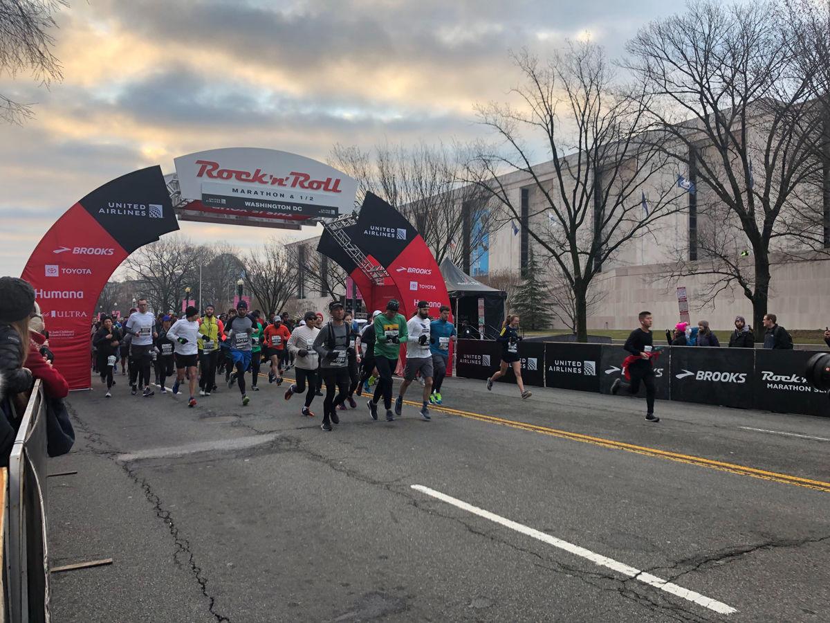 The Rock 'n' Roll Marathon kicks off on March 9 in D.C. (WTOP/Melissa Howell)