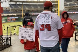 Some of the Nats fans feel jilted. After all, it was only a month ago that he signed with Philly. (WTOP/Noah Frank)