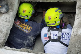Members of Virginia Task Force 1 working in a confined space. (Courtesy Virginia Task Force 1)