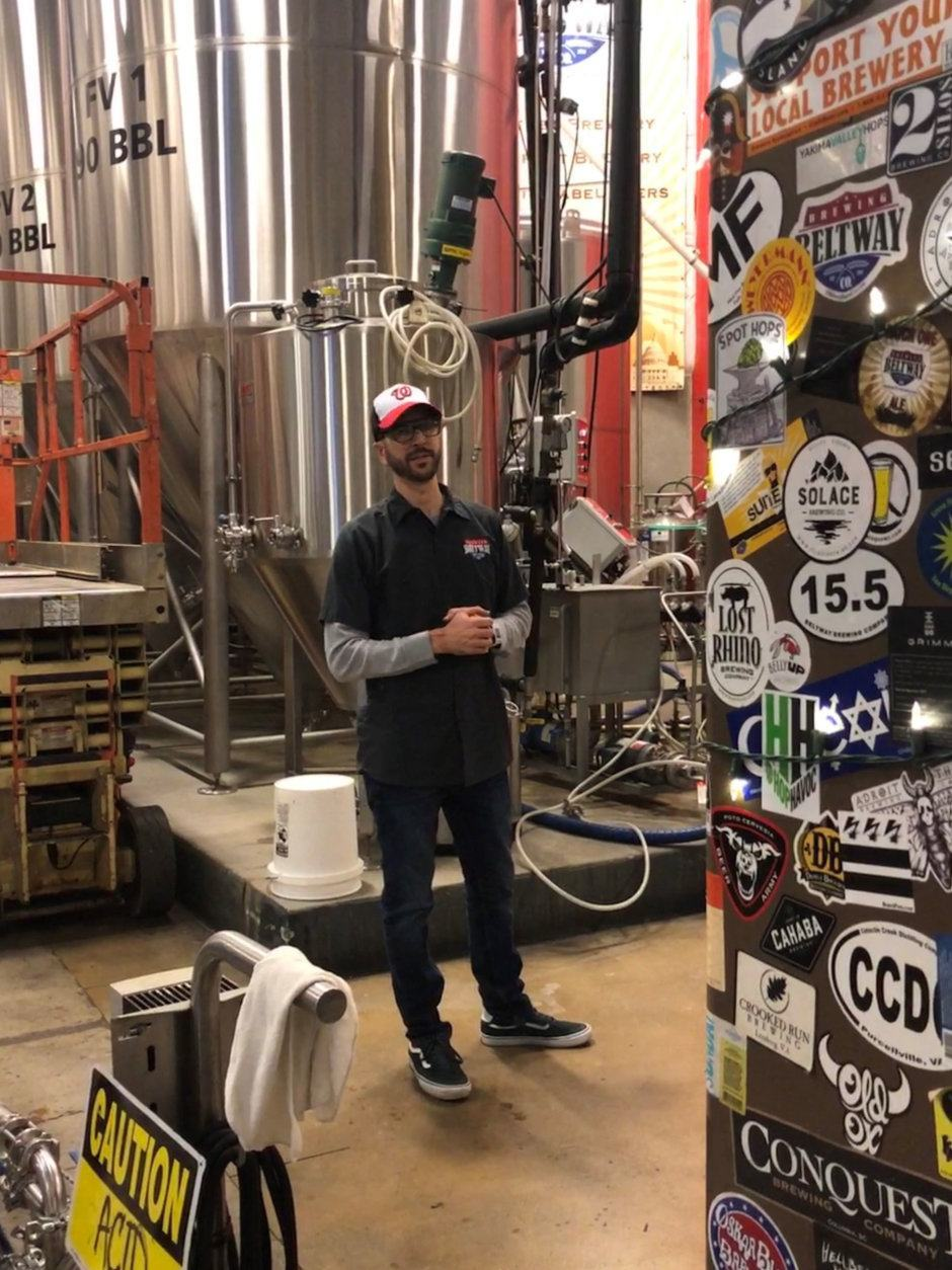 Beltway Brewing president and founder Sten Sellier inside the brewer's state of the art facility. (Coruteys Beltway Brewing)