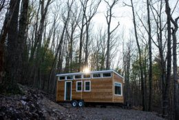 A tiny house retreat is owned and operated by three Gallaudet University alumni. (Courtesy Lost River Vacations)