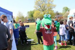 The mascot from the 2018 Earth Day celebration in Alexandria, Virginia. (Courtesy City of Alexandria)