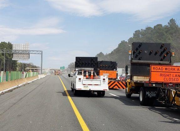 Tractor trailer crash, fire complicates Beltway traffic