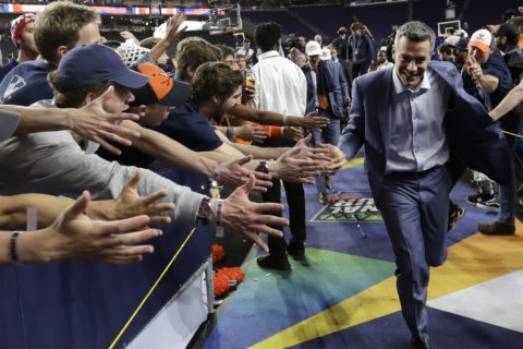 Proud pop: Dick Bennett beams as son leads Virginia to title