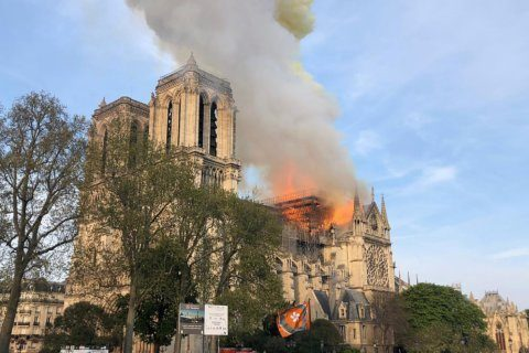 WATCH: Paris' Notre Dame Cathedral on fire
