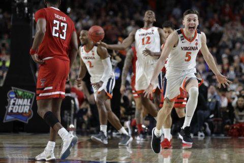 Virginia raises banner, celebrates hoops championship
