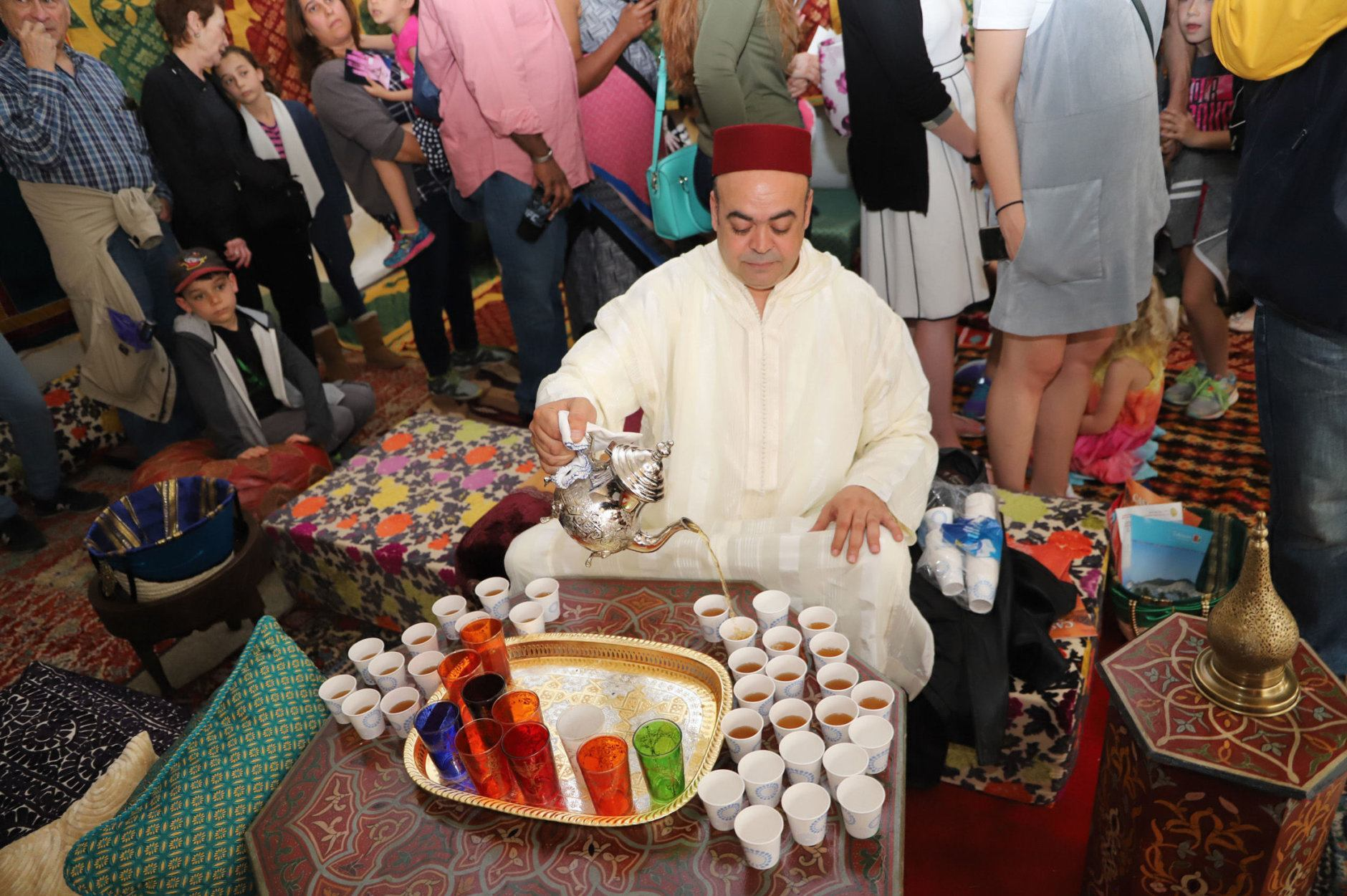 Tea is served at the Moroccan Embasy during 2018's Around the World Embassy Tour. (Courtesy Cultural Tourism DC)
