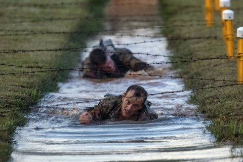 Tough going: Elite service members compete for 'Best Ranger'