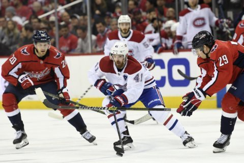 Capitals win Metropolitan Division, beat Canadiens 2-1