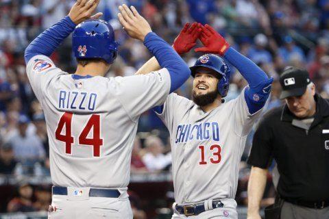 Bote homers twice as Cubs beat Diamondbacks 9-1