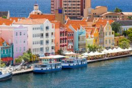 Beautiful architecture  downtown Willemstad, Curacao