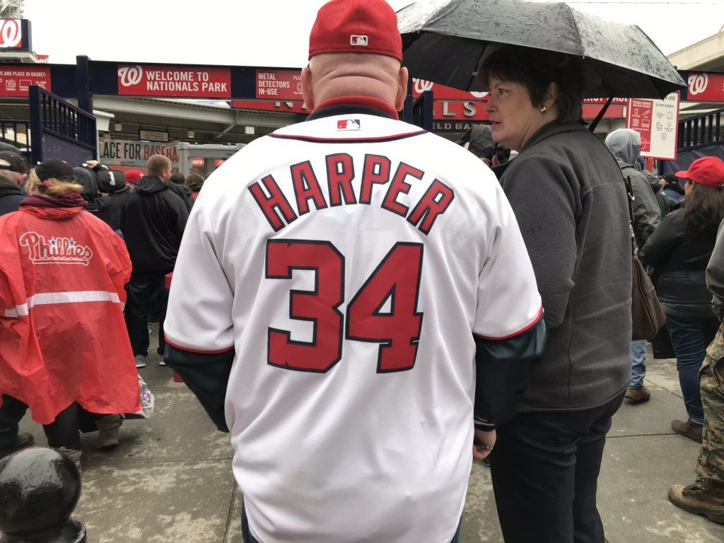 Other fans were fine hanging on to their jerseys, despite the name on the back. (WTOP/Michelle Basch)