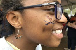 Third-year Virginia studen Tiffany Perry of Laurel, Maryland is ready for the national championship. (WTOP/Kristi King)