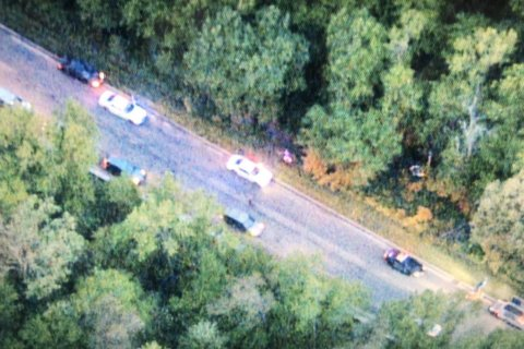 Vehicle crashes into trees off BW Parkway in Laurel