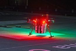 The drone's transplant organ delivery flight happened 12:30 a.m. on Friday, April 19, 2019. (Courtesy University of Maryland School of Medicine and University of Maryland)