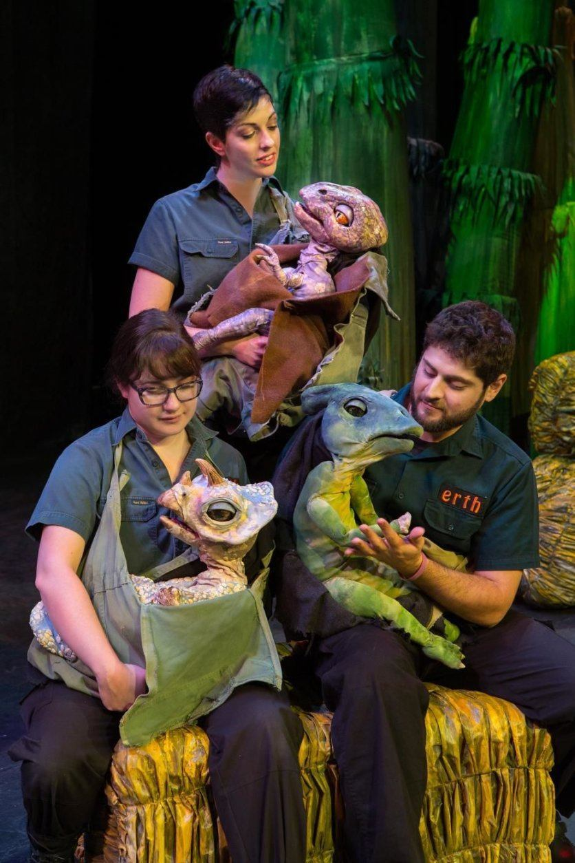 """Erth's Dinosaur Zoo Live"" mixes paleontology and puppetry. (Photo by C. Waits)"