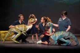 The kid-friendly show connects children to paleontology. (Photo by C. Waits)