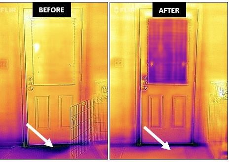 The idea is that once you've identified problem spots, you could add insulation or weather stripping to seal drafts and thus save on heating and cooling bills. (Courtesy MyGreenMontgomery/Jessica Lavender)