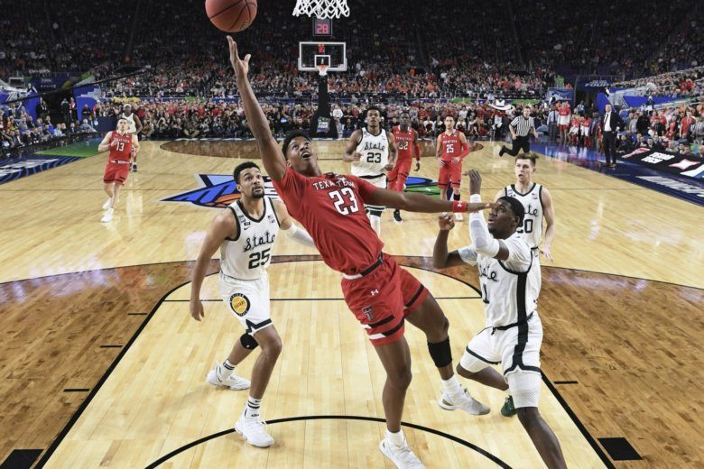 brand new da9af 1fcdb Texas Tech s Jarrett Culver (23) takes a shot during the first half in the  semifinals of the Final Four NCAA college basketball tournament against.