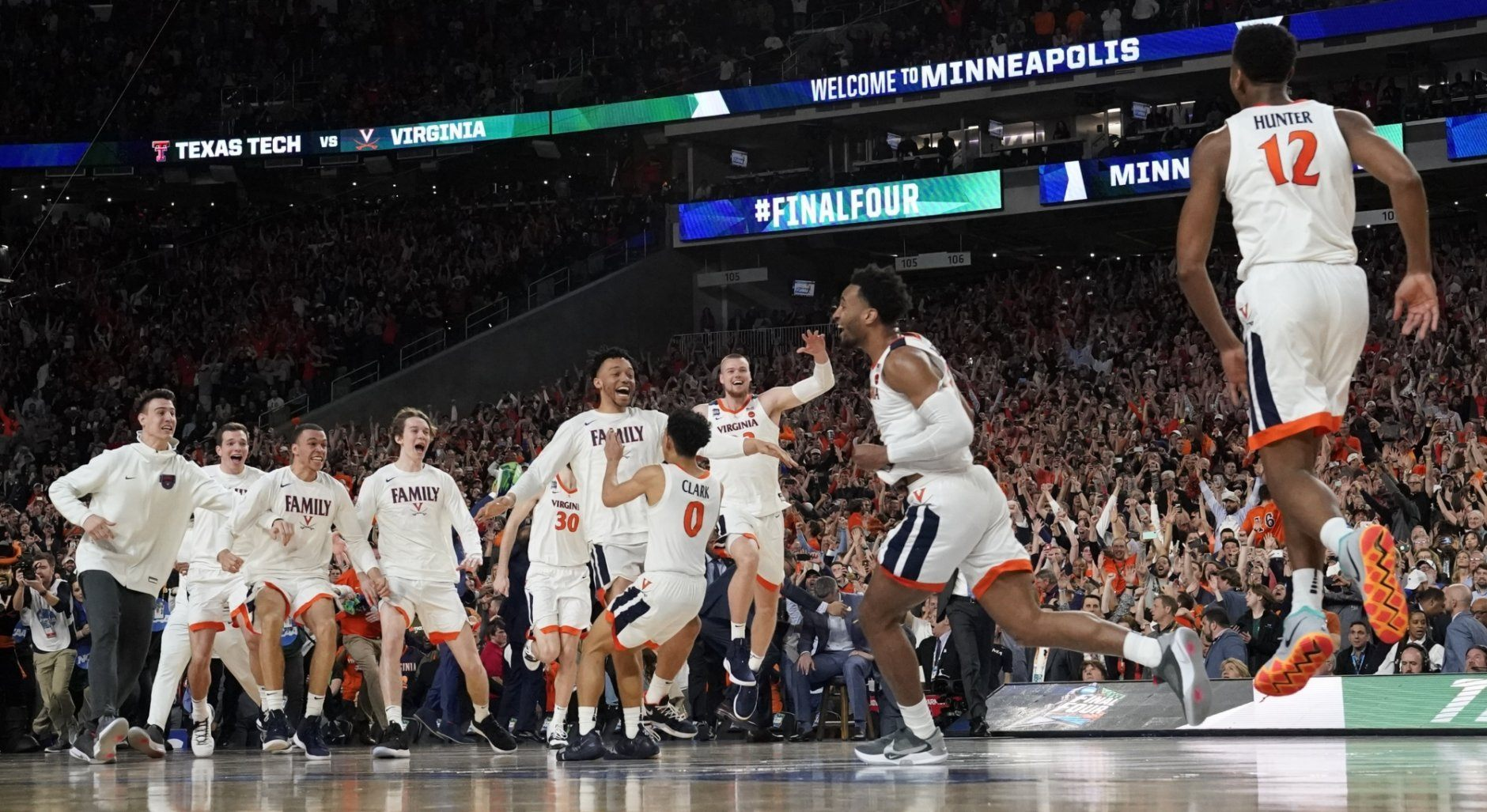 <p><strong>3. Virginia finds redemption</strong></p> <p>If you were going to write the story of redemption for the first 1 seed to lose to a 16 seed, you'd play up the drama for maximum effect. They'd have to trail the opening round 16 seed again, by double digits, to start. They'd have to trail every game, to need a miracle to force overtime in one game, then another to win the next. They'd need heart-stopping drama at every turn, making you think that redemption is too good to be true. And then, they'd have to cap it all off with not just a Final Four, but the first national title in program history (in overtime, naturally). Good thing Virginia stuck to the script.</p>