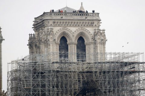 WATCH: Live scene at Notre Dame