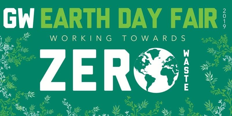 Poster for the 2019 GW Earth Day Fair. (Courtesy George Washington University)