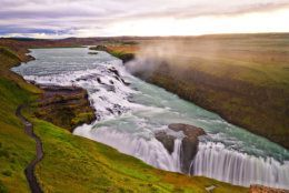 The immense power and grandeur of Gullfoss Waterfall in Iceland exhibits different moods.