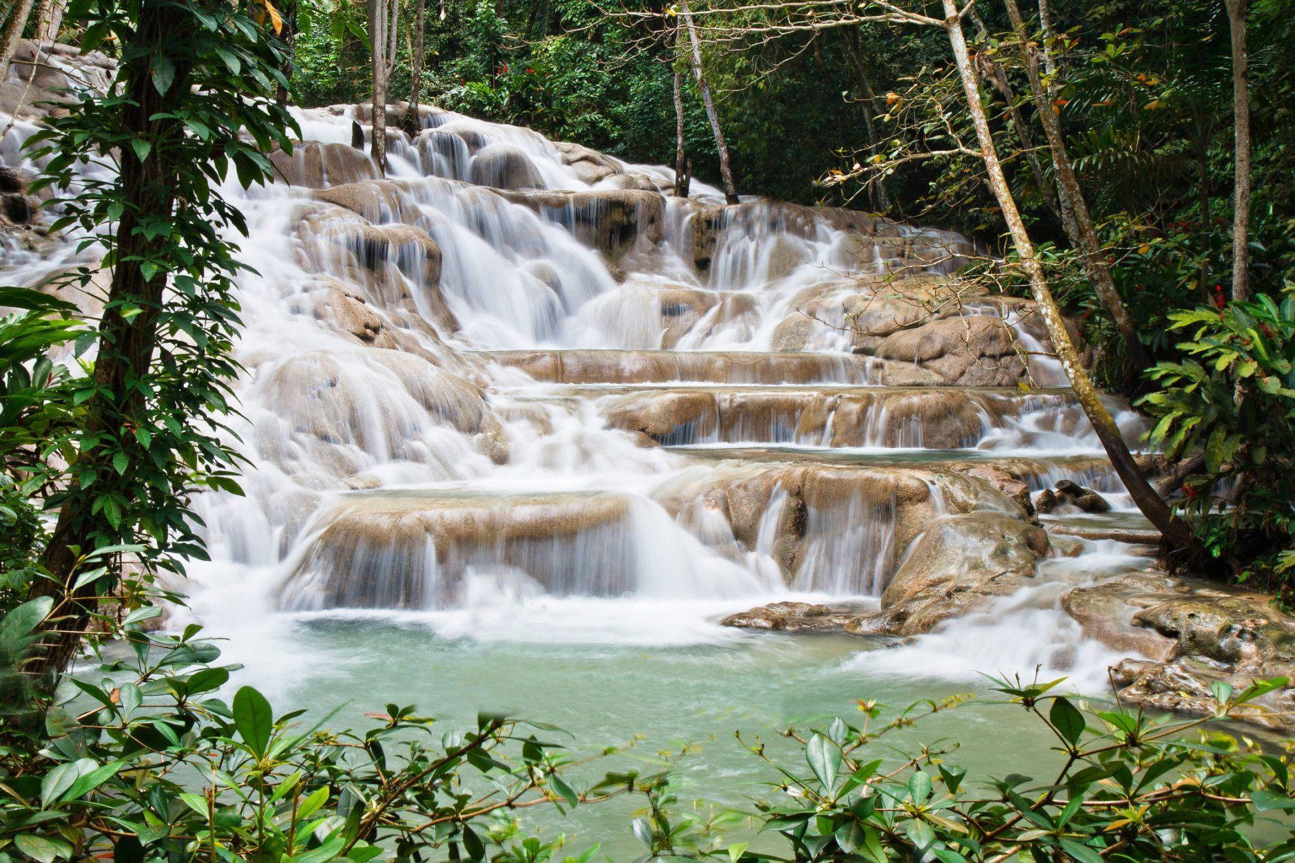 Dunn's River Fall, in Ocho Rios Jamaica, Waterfall