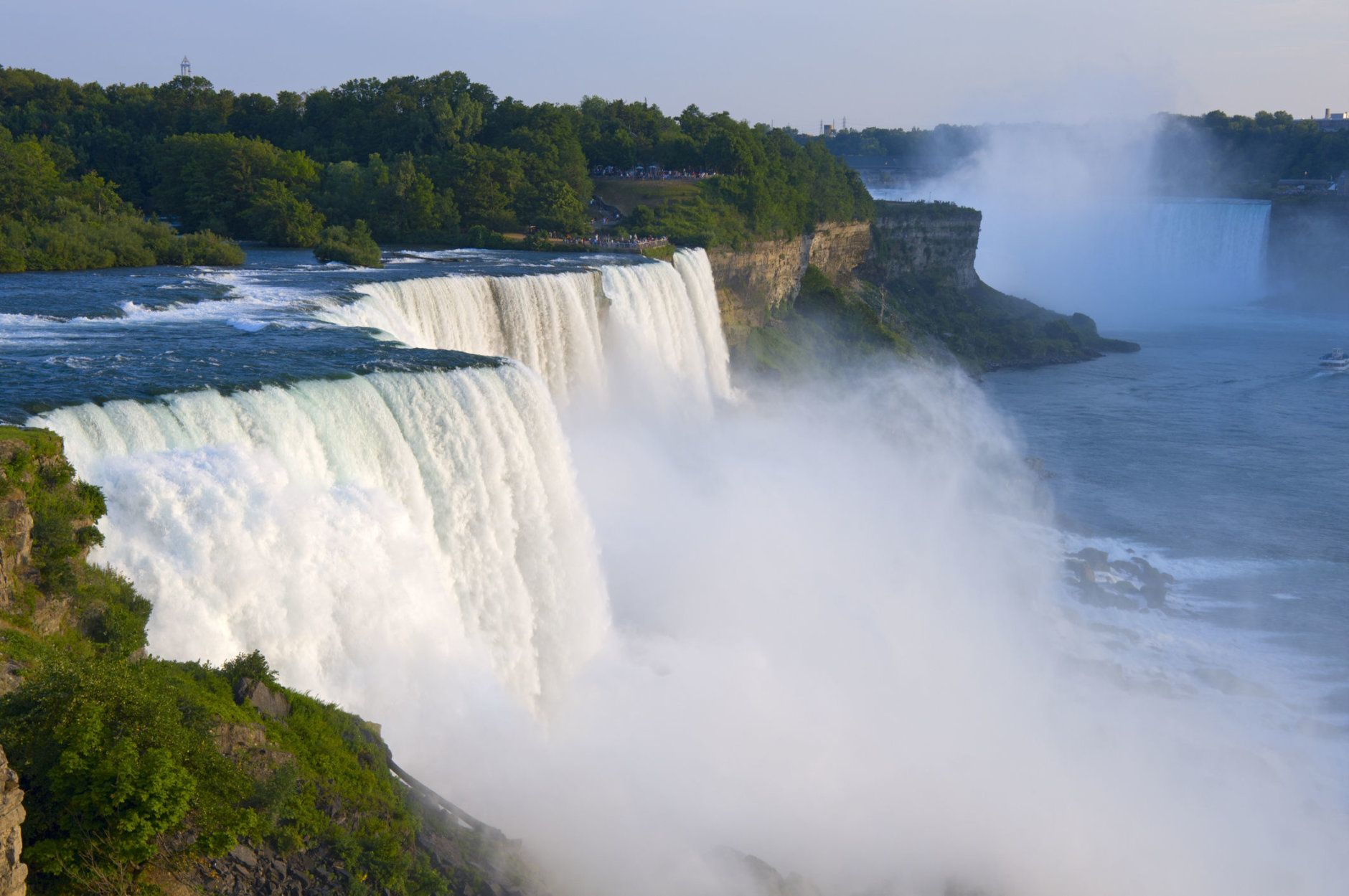 Atop American Falls from observation deck at Niagara Falls State Park in New York (Getty Images/iStockphoto)