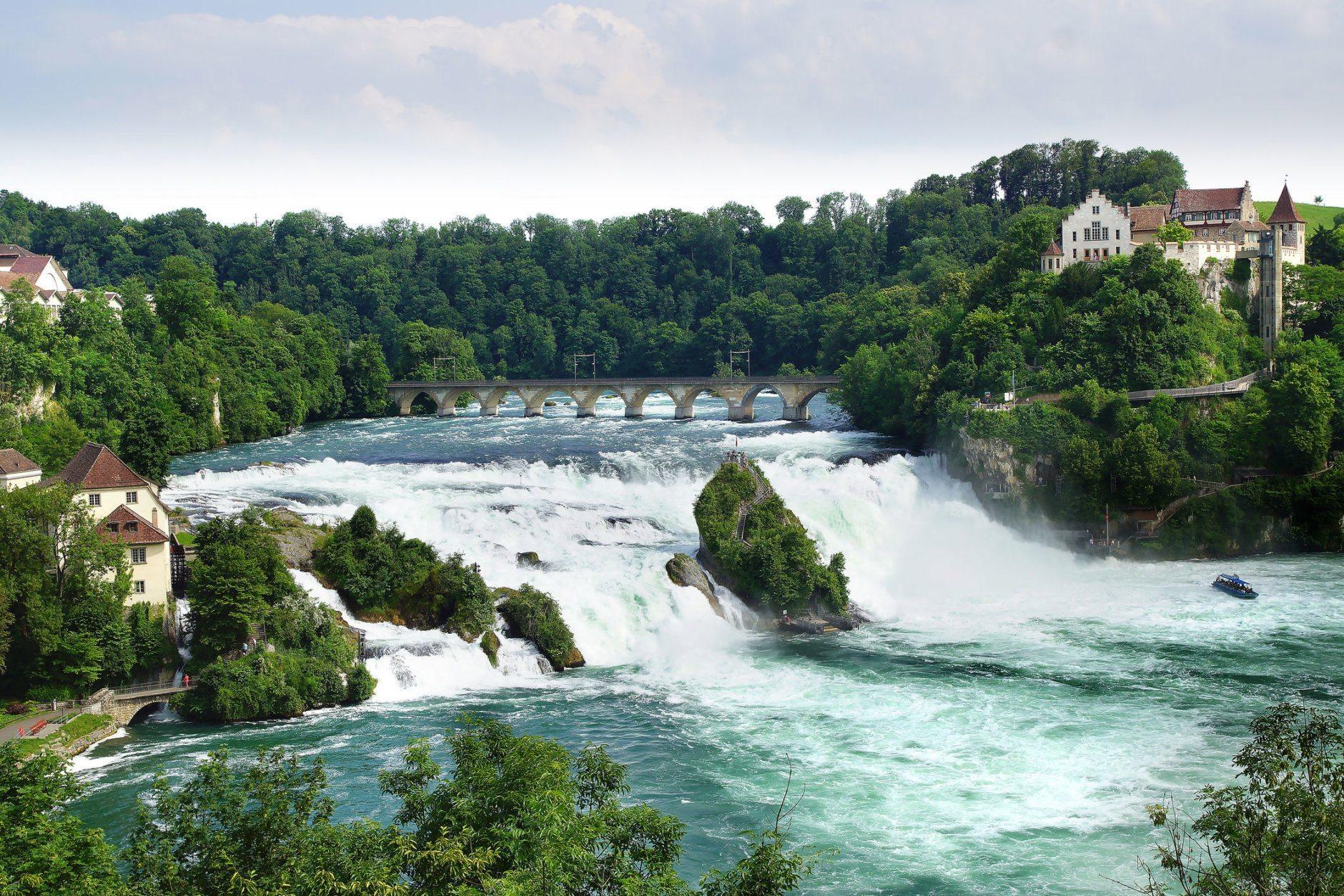 Rhinefall, the largest Waterfall in Europe. Switzerland