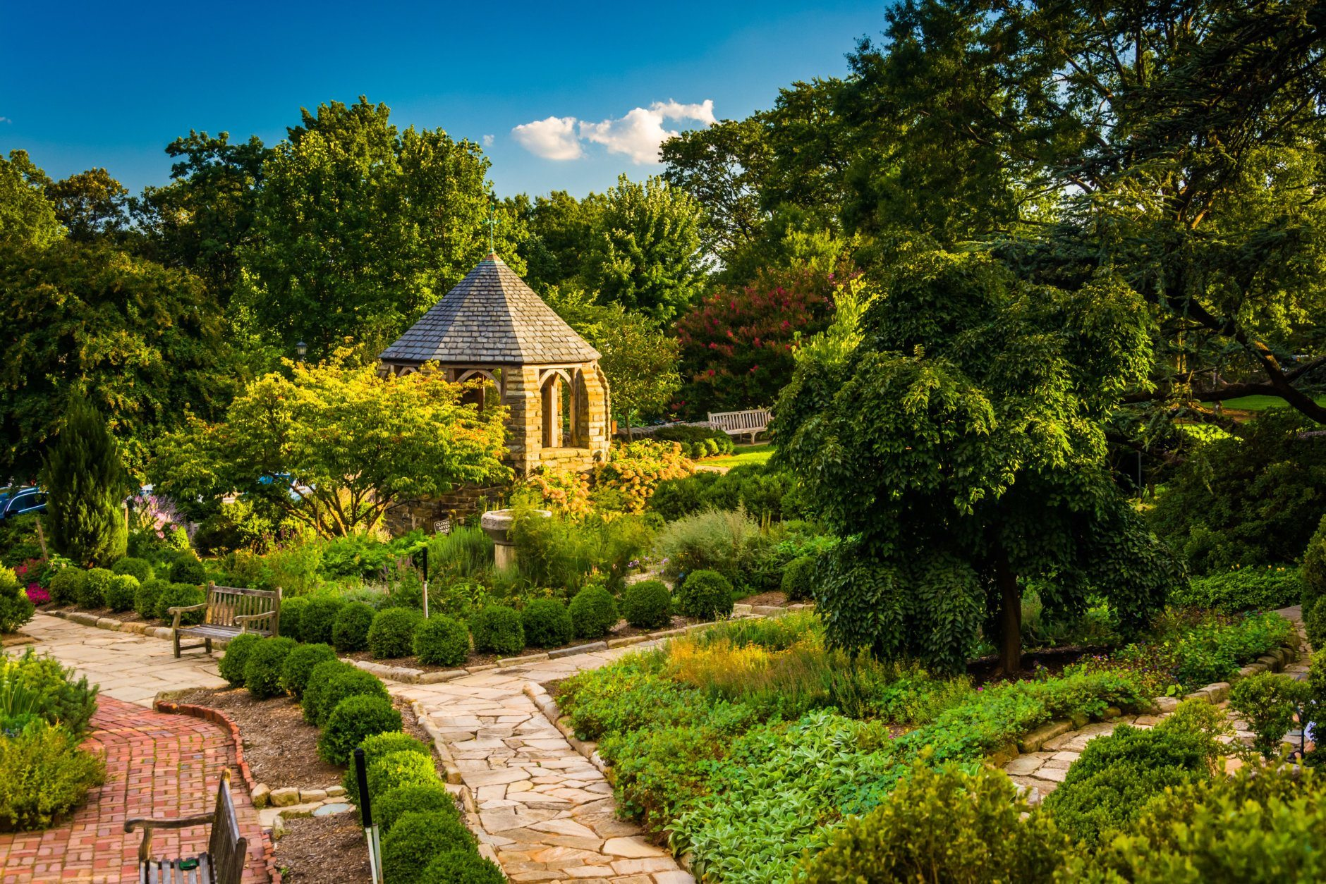 View of the Bishop's Garden at the Washington National Cathedral in Washington, DC. There will be a garden tour for Earth Day 2019. (Getty Images/iStockphoto)