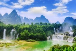 Guangxi Chinese Detian cross-border waterfall