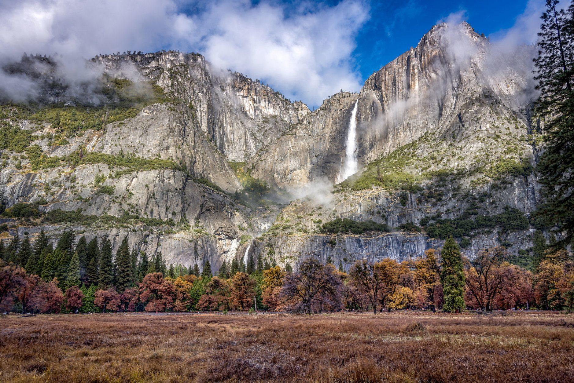 Yosemite falls at the Yosemite National Park, California, USA