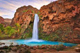 Havasu Falls in fall.