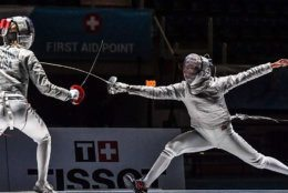 """""""Fencing is very physical and it's also very mental,"""" 15-year-old Honor Johnson said, likening the sport to physical chess. """"You have to strategize and figure out what action you should be doing at the right time."""" (Courtesy Augusto Bizzi/Bizzi Team)"""